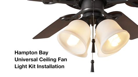 How To Install Ceiling Fan With Light How To Install The Hton Bay 4 Light Universal Ceiling Fan Light Kit