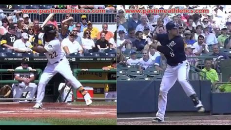 ryan braun swing ryan braun versus andrew mccutchen hitting mechanics