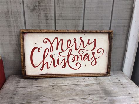 merry christmas wood sign christmas sign by