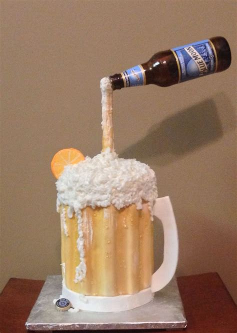 beer cake blue moon beer mug cake my cake hobby pinterest blue