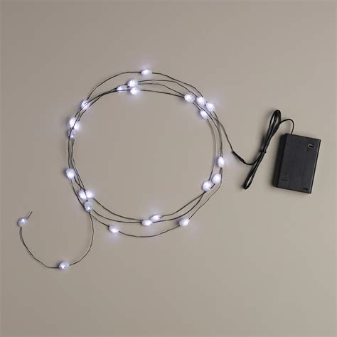 skull micro led 25 bulb battery operated string lights