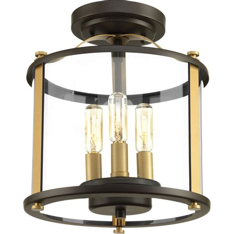 home depot outdoor flush mount lighting progress lighting squire collection 3 light antique bronze