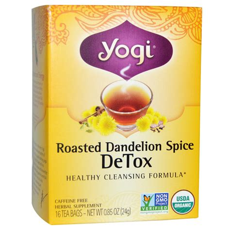 Yogi Roasted Dandelion Spice Detox Tea Benefits dandelion tea rachael edwards