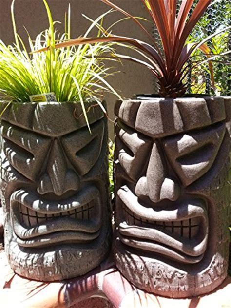 Tiki Planters by Tiki Statue