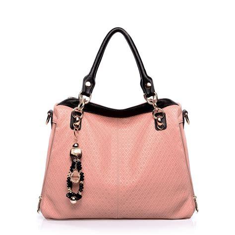 color block fashion handbag pink