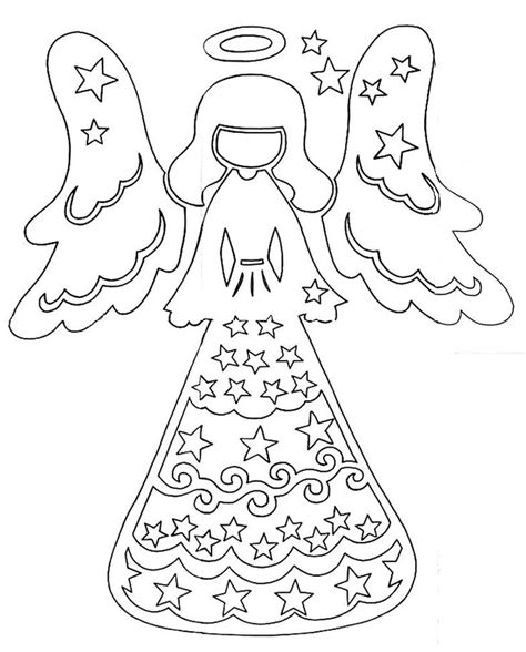 paper bag angel pattern diy christmas angel free stencil template pattern paper