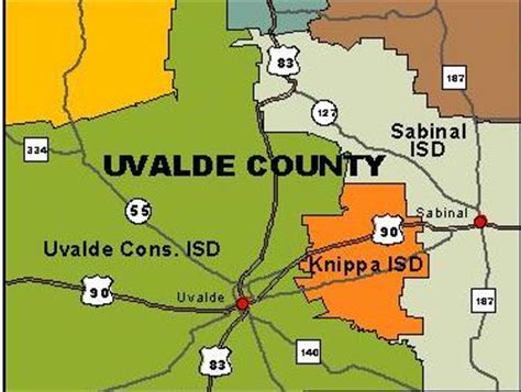 Uvalde County Records Department Of State Health Services Region 8 Uvalde County Map