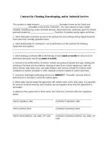 Janitorial Contracts Templates by Cleaning Contract Hashdoc