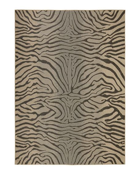 Zebra Indoor Outdoor Rug Zebra Terrace Indoor Outdoor Rug 7 10 Quot Sq