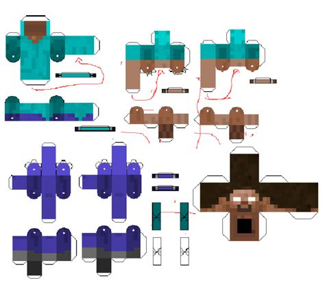 minecraft steve paper template paper crafts minecraft herobrine ye craft ideas