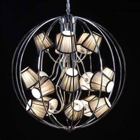 Sphere Chandelier With 16 Shades Sphere Chandeliers