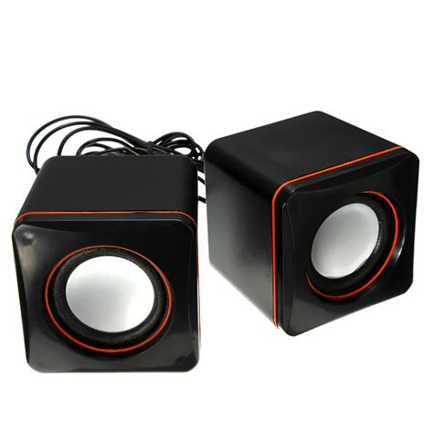 2 0 Mini Channel Multimedia Speaker Usb Mini Square Audio 2 Channel Multimedia Speaker Black Alex Nld