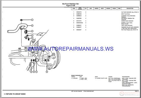 service manual free download parts manuals 1995 chrysler lebaron electronic toll collection chrysler dodge g cherokee zj parts catalog part 2 1997 1998 auto repair manual forum heavy