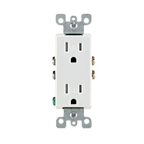 leviton receptacle leviton decora 15 ter resistant duplex outlet white r57 t5325 0dw the home depot