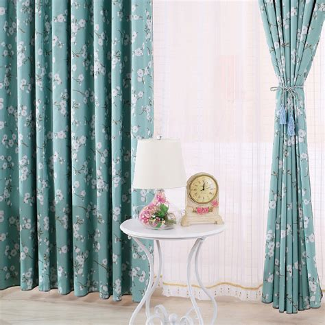 blue floral print curtains high end curtains window drapes custom curtains sale