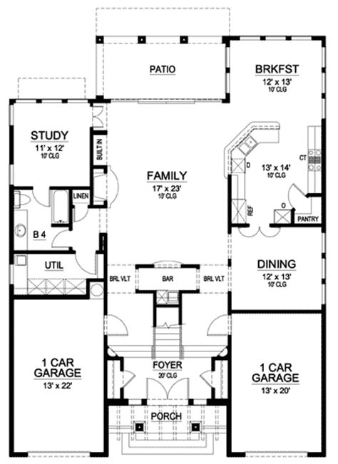 spanish mission floor plan mission style in two versions 36346tx 2nd floor master