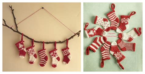 pattern for knitted mini christmas stocking mini christmas stocking free knitting pattern