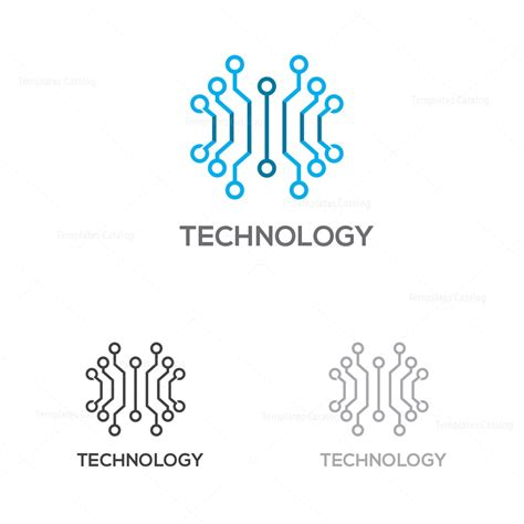 technology company logo template 000199 template catalog