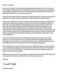 Greatest Breakup Letter Ever Written the best cover letter ever her inklings