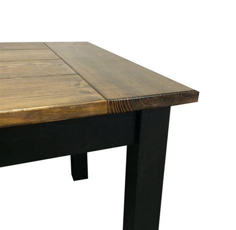 Black Farm Table by Walnut Black Farmhouse Table Ezekiel And Stearns