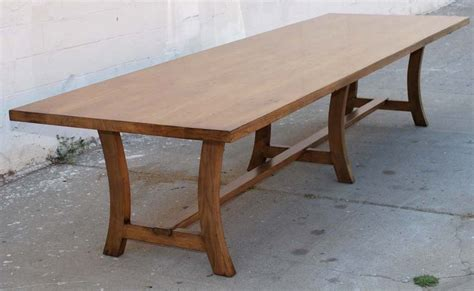 vintage black walnut custom built dining table for sale at