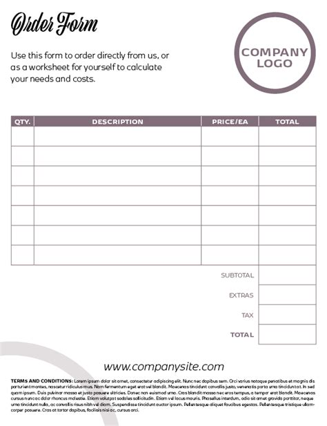 indesign template questionnaire indesign template of the month price list order form