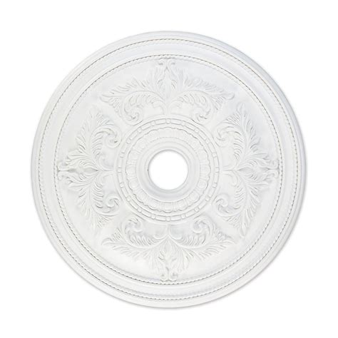 shop livex lighting white ceiling medallion at lowes com