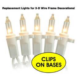 replacement lights for lighted wire deer 50 clear