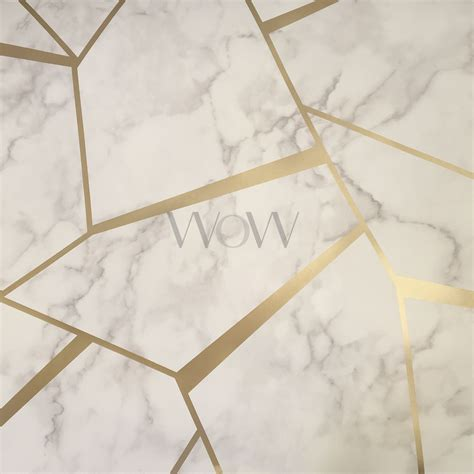 Geometric Marble decor fractal geometric marble metallic wallpaper