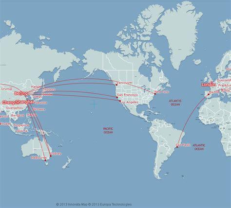 usa china map air china route map americas and australia