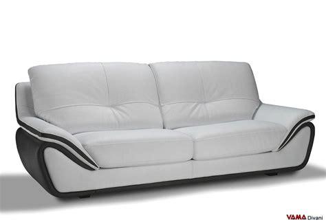 divano due colori divano in pelle moderno bianco schienale alto avvolgente