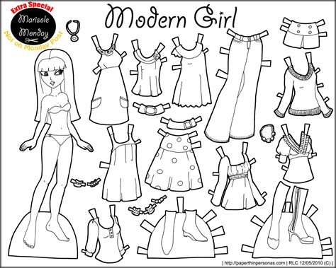 Printable Paper Dolls Black And White | free coloring pages of disney paper dolls