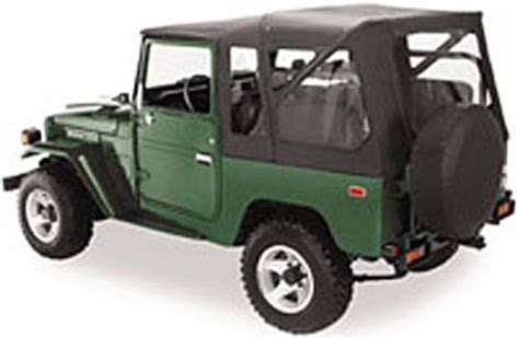 toyota jeep black bestop supertop soft top for toyota land cruiser fj40 1964