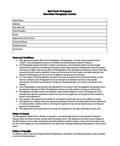 Real Estate Photography Contract Template 13 Various Ways Aerial Photography Contract Template