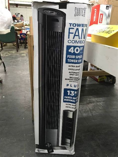 sunter tower fan manual sunter tower fan combo january unclaimed freight