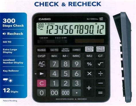 Casio Calculator Dj 120d Plus casio dj 120d plus genuine casio desktop check calculator