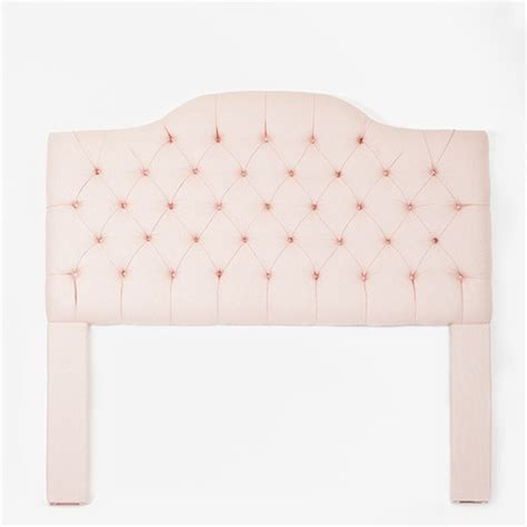 Light Pink Tufted Camelback Headboard Contemporary