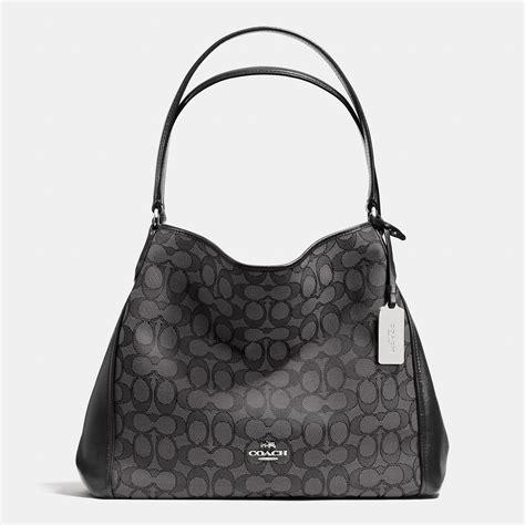 Jacquard Shoulder Bag by Lyst Coach Edie Shoulder Bag 31 In Signature Jacquard In