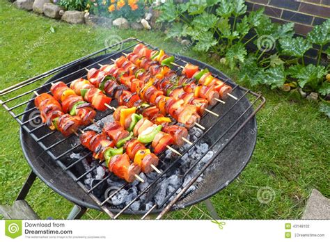 backyard barbecue stock photo image 43148102
