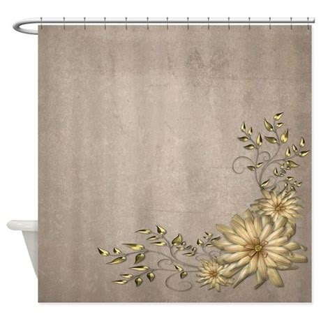 shower curtain floral brass and floral shower curtain by izmetsdream