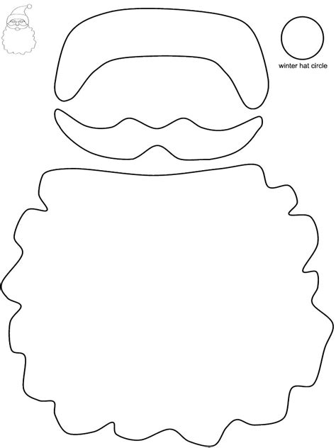 printable santa face template 2008 june