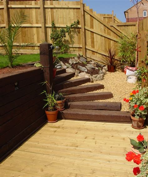 Railway Sleepers Garden Ideas Wooden Garden Sleepers Yes Or No To Railway Sleepers In The Garden Deavita