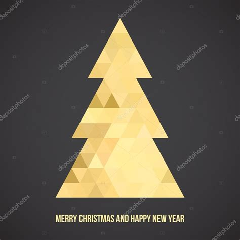 triangle pattern to trace gold christmas tree triangle pattern stock vector