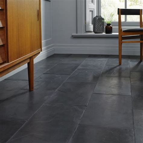 brushed black slate floor tiles 600x400mm the tile
