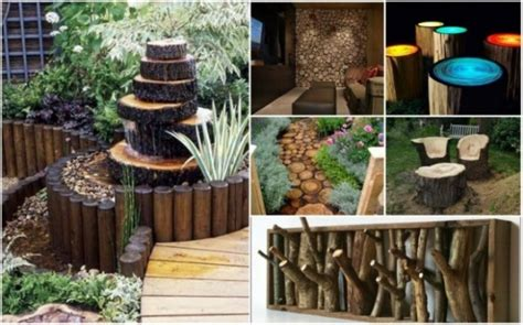 diy home design ideas pictures landscaping 20 diy rustic log decorating ideas for home and garden