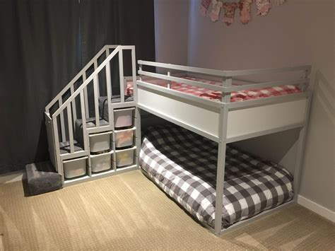 ikea tuffing bunk bed hack kura bunk bed hack for two toddlers ikea hackers ikea
