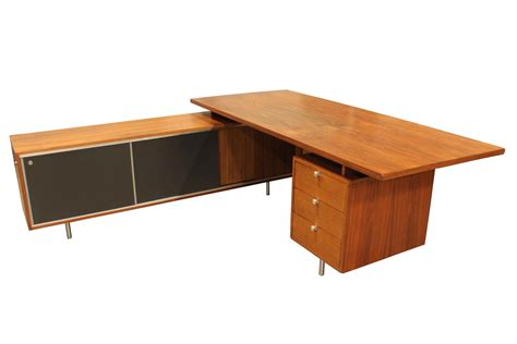 Herman Miller Desk by Vintage 1960s George Nelson Executive Desk By Herman
