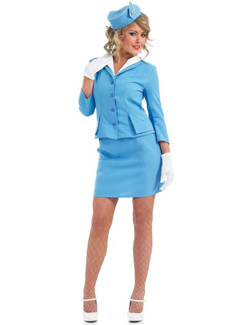 How To Dress For Cabin Crew by Blue Cabin Crew Costume Fs3090 Fancy Dress