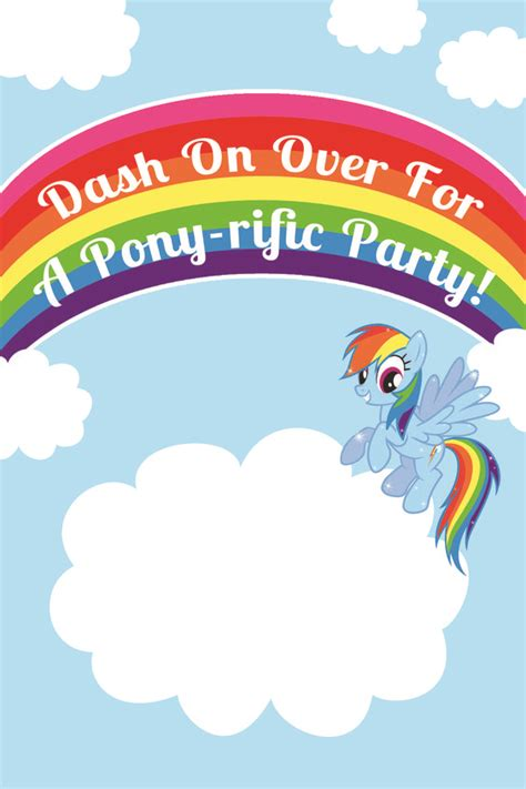 my little pony rainbow dash birthday party printables