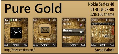 themes gold nokia pure gold themereflex
